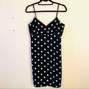 Dresses & Skirts - Polka dot slip dress black and white